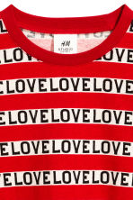 Long-sleeved T-shirt - Red/Text - Kids | H&M CN 2