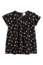 Cotton blouse - Black/Small floral - Kids | H&M CN 1
