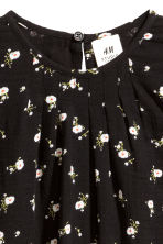 Cotton blouse - Black/Small floral - Kids | H&M CN 4