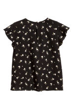 Cotton blouse - Black/Small floral - Kids | H&M CN 2