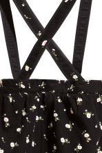 Skirt with straps - Black/Small floral - Kids | H&M 4