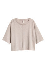 Wide T-shirt - Grey beige - Ladies | H&M CN 2