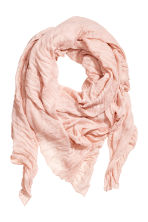 Large scarf - Powder pink -  | H&M 1