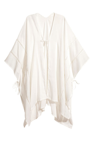 Poncho - Natural white - Ladies | H&M