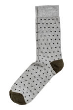 Spotted socks - Grey/Black - Men | H&M 1