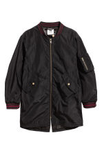 Long bomber jacket - Black - Kids | H&M CN 1