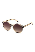 Sunglasses - Light beige/Pattern - Ladies | H&M GB 1