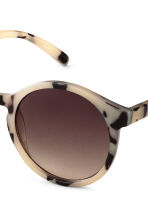Sunglasses - Light beige/Pattern - Ladies | H&M GB 3