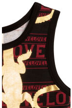 Patterned vest top - Black/Gold - Kids | H&M CN 2