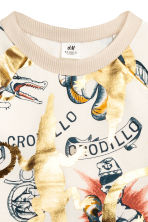 Printed sweatshirt - Natural white/Gold - Kids | H&M 2