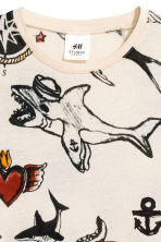 Printed T-shirt - Natural white/Patterned - Kids | H&M CN 2