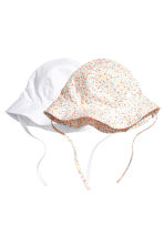 2-pack sun hats - White - Kids | H&M 1