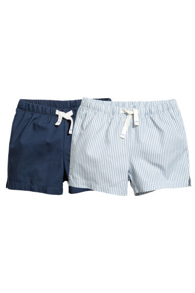 2-pack cotton shorts - Dark blue -  | H&M 1