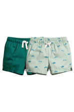 2-pack cotton shorts - Mint green/Cars -  | H&M 1