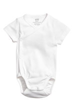 2-pack wrapover bodysuits - White - Kids | H&M CN 2