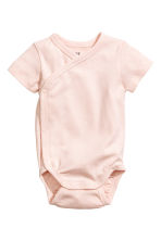 2-pack wrapover bodysuits - Light pink - Kids | H&M CN 2