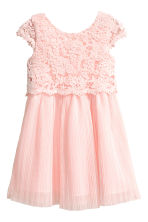 Lace dress - Light pink -  | H&M CN 2