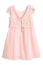 Lace dress - Light pink -  | H&M CN 3
