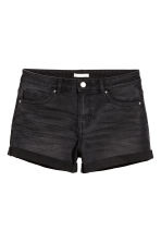 Korta jeansshorts - Nearly black - DAM | H&M FI 2