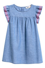 Cotton dress - Blue/Chambray -  | H&M CN 2