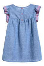 Cotton dress - Blue/Chambray -  | H&M CN 3