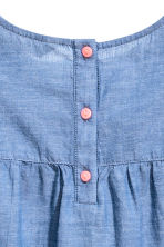 Abito in cotone - Blu/chambray -  | H&M IT 4