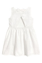 Embroidered dress - White - Kids | H&M CN 3