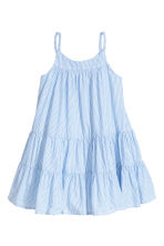 棉質洋裝 - Light blue/White striped - Kids | H&M 2