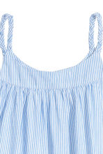 棉質洋裝 - Light blue/White striped - Kids | H&M 3