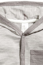 Jersey hooded cardigan - Grey/Fine stripe - Kids | H&M CN 2