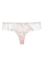 Lace Brazilian briefs - Light apricot - Ladies | H&M 2