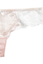 Lace Brazilian briefs - Light apricot - Ladies | H&M 3