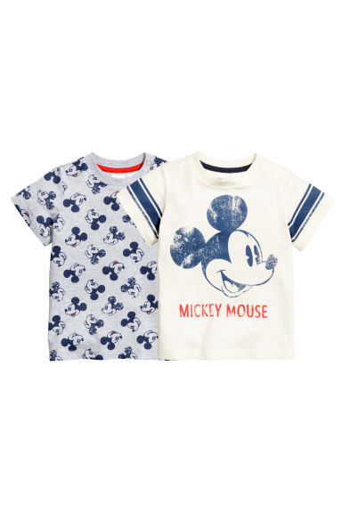 2-pack T-shirts - Grey/Mickey Mouse - Kids | H&M 1