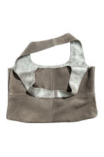 Large suede shopper - Grey/Silver - Ladies | H&M CN 2