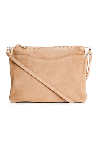 Suede shoulder bag - Light beige - Ladies | H&M CN 1