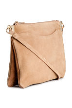 Suede shoulder bag - Light beige - Ladies | H&M CN 2