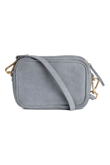 Small suede shoulder bag - Grey-blue - Ladies | H&M CN 1