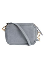 Small suede shoulder bag - Grey-blue - Ladies | H&M 1