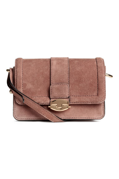 Suede shoulder bag - Vintage pink - Ladies | H&M 1