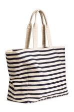 Canvas shopper - Natural white/Blue/Striped - Ladies | H&M CN 2