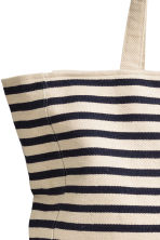 Canvas shopper - Natural white/Blue/Striped - Ladies | H&M CN 3