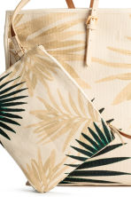 Canvas shopper - Light beige/Leaf - Ladies | H&M 3