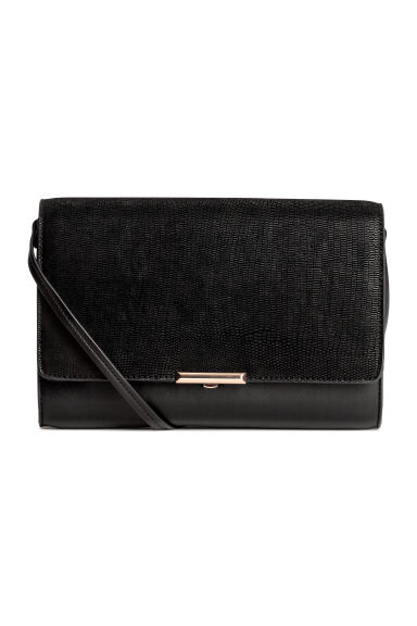 Clutch bag with shoulder strap - Black - Ladies | H&M 1
