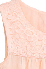 Open-back top - Powder pink -  | H&M 3