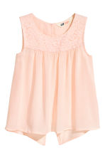 Open-back top - Powder pink -  | H&M 2