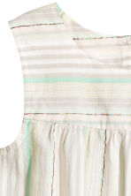 Open-back top - Light grey/Striped - Kids | H&M CN 3