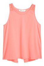 Wrapover vest top - Coral pink - Kids | H&M 2
