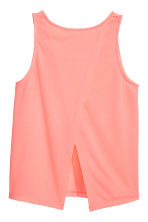 Wrapover vest top - Coral pink - Kids | H&M 3