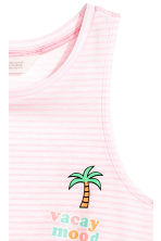 Tie-front vest top - Light pink -  | H&M 3