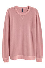 Textured sweatshirt - Pale pink - Men | H&M CN 2